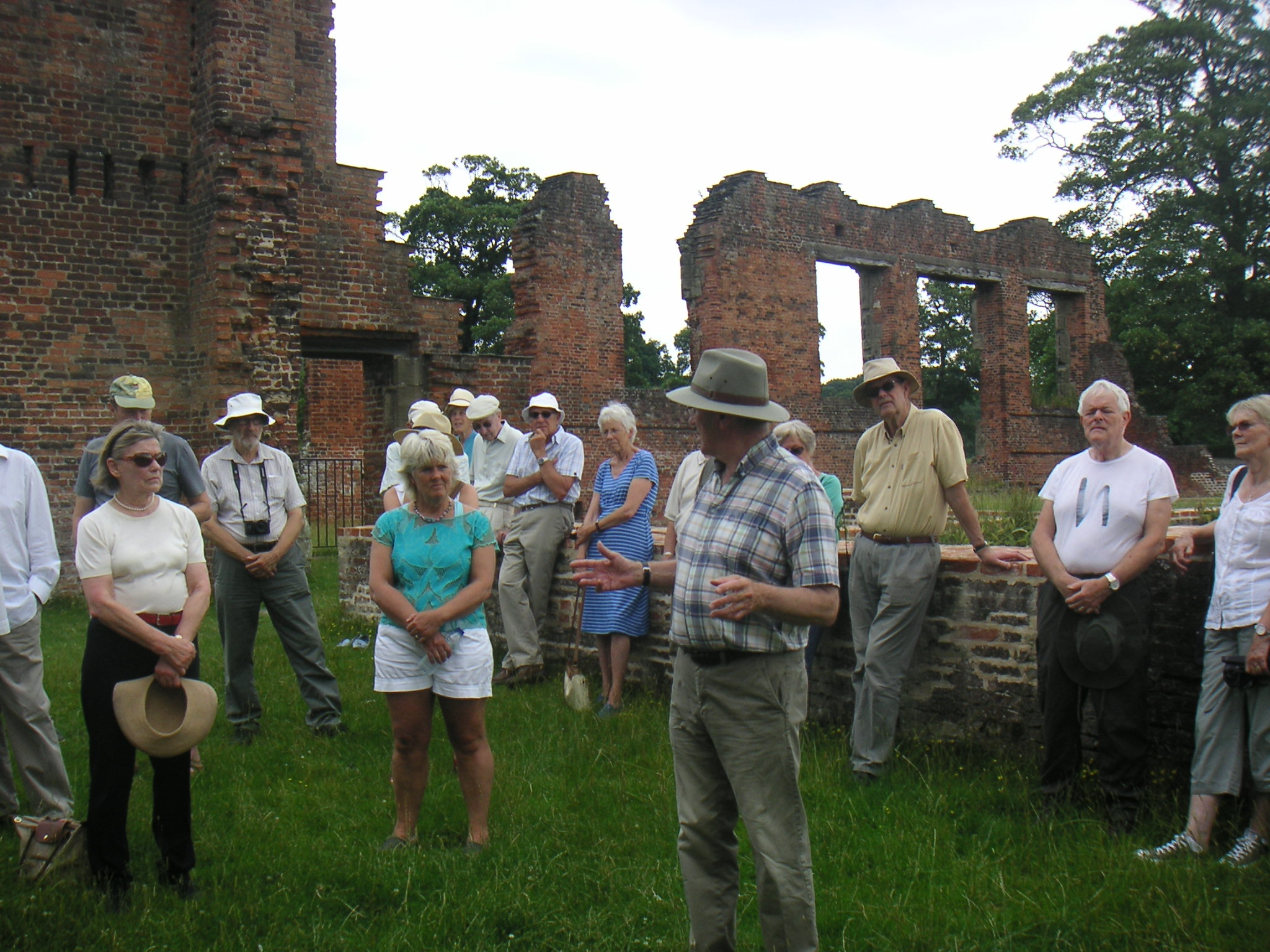 Members at Bradgate House ruins